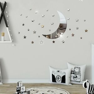 Reflective wall stickers - moon & stars